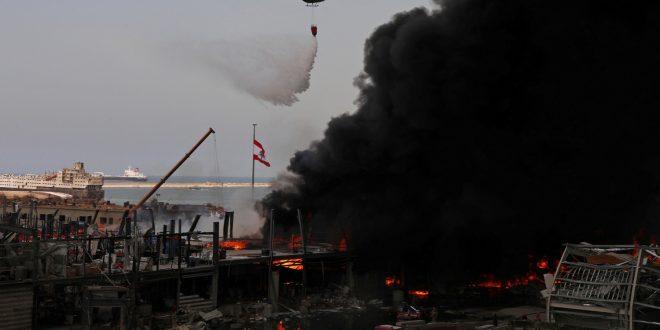Президент Ливана назвал возможные причины пожара в Бейруте и поторопил с расследованием