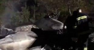 В сети появилось видео с места крушения украинского Ан-26