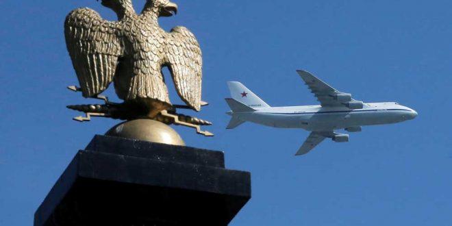 жесткая посадка Ан-124 попала на видео