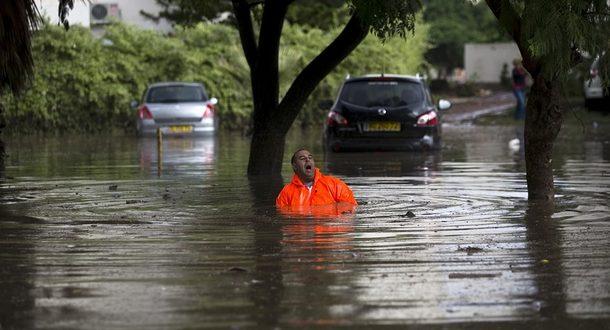 Сильные дожди привели к наводнениям в Ашдоде и Ашкелоне