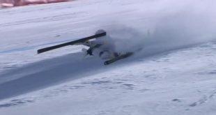 22-летняя спортсменка упала на скорости 180 км/ч